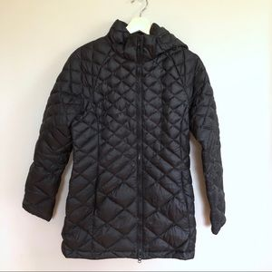 The North Face Black quilted women's winter coat